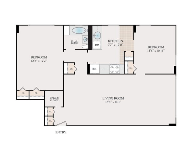 Floor Plans Fairmount Towers Apartments For Rent In