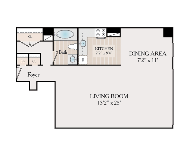 Studio Apartment Elizabeth Nj floor plans - fairmount towers apartments for rent in elizabeth, nj